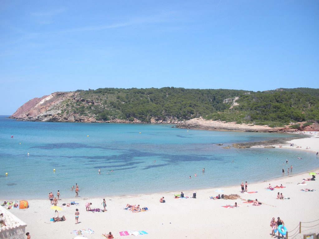we start off at sea level in cala algaiarens but the first steps we take go inland through a wooded area with a small climb to go back down again to the