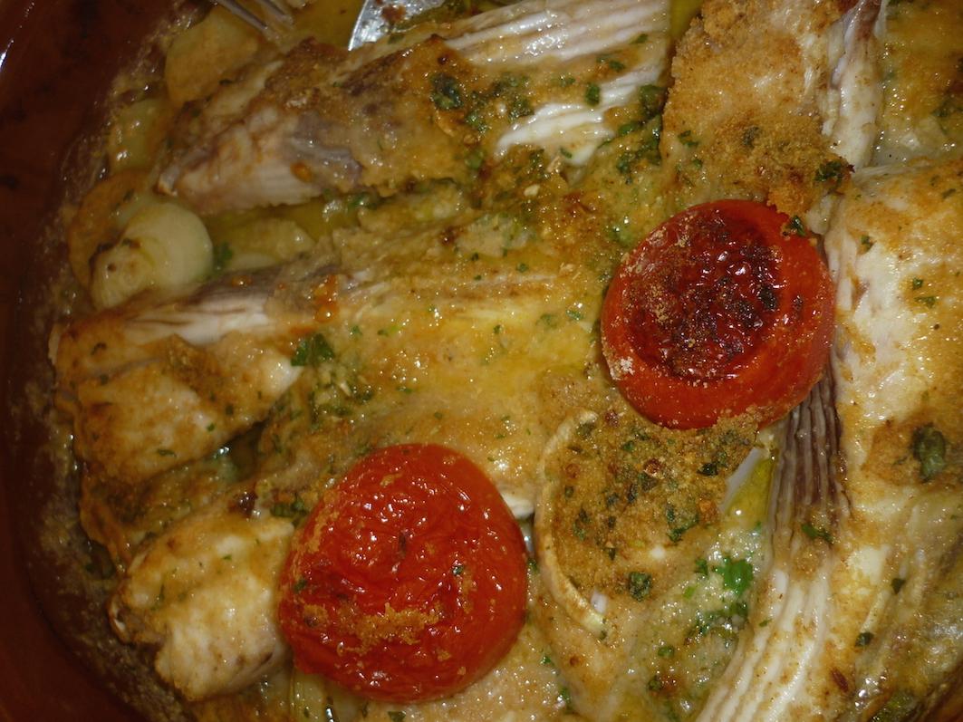Raya a la menorquina - Ray fish cooked the menorquin way
